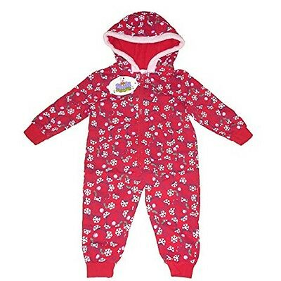 Girls Pyjamas Sleepsuit With Hood Official Peppa Pig 1-6 Years