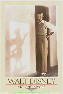 WALT DISNEY And MICKEY MOUSE Poster Print ORIGINAL 1987 Art One Images 24 By 36