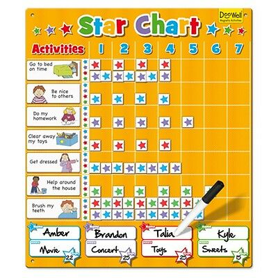Large Star Chart Magnetic Activity - Activities & Games Fiesta Crafts Kids