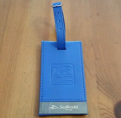NEW Blue SeaWorld San Diego LUGGAGE TAG