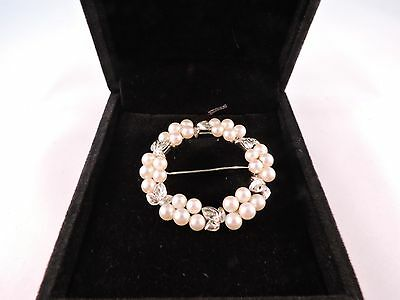 Mikimoto Pearls Brooche AAA signed M $1,950 Appraisal