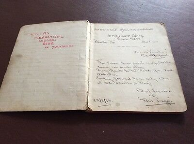 Vintage Theatrical Lodger's Visitor Book - Wwi Period 1913-1918 - Castleford