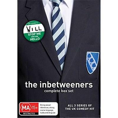"""The Inbetweeners 1-3 Complete Series Collection 3 Discs Dvd Box Set R4 Aus """"new"""""""