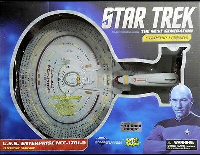 Star Trek Next Generation Enterprise D All Good Things Ship with Lights & Sound
