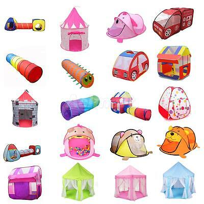 Playhouse Kids Portable Foldable Tent/House/Castle/Tunnel Boys Girls Playhut Toy