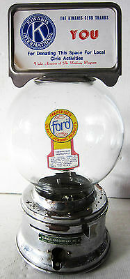 Ford Dime Operated Half Inch Round Gumball Machine circa 1950's