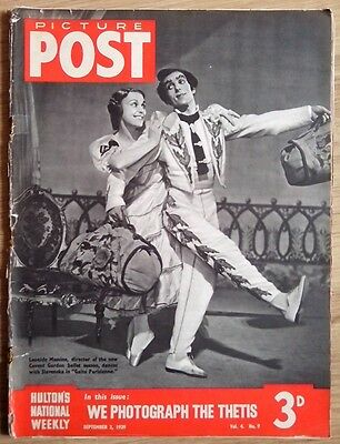 "Vintage ""picture Post"" Magazine. September 2, 1939."