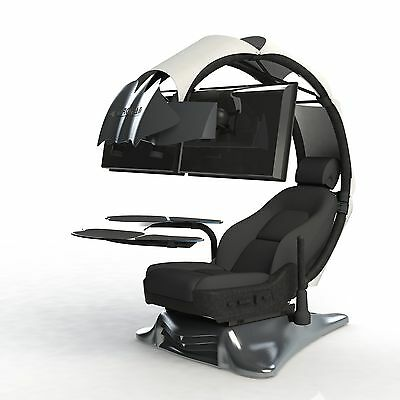 Droian Ergonomic Chair Gamer Computer Workstation Leather Seat