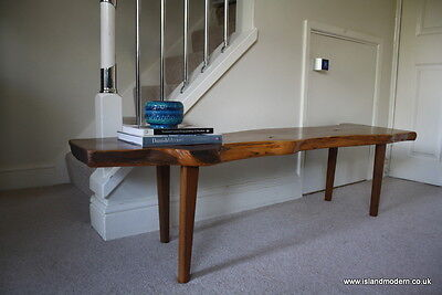 Vintage 1970s Reynolds of Ludlow Organic Solid Yew Halway Bench Low Coffee Table • £295.00