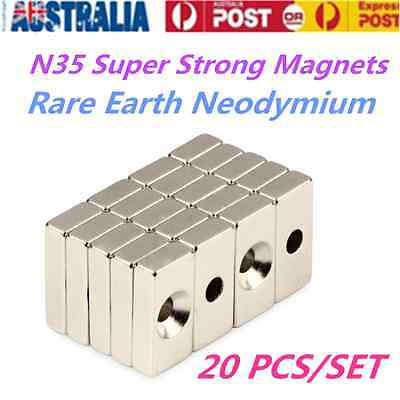 New 20pcs Super Strong Magnets Rare Earth Neodymium N35 Square Permanent magnet