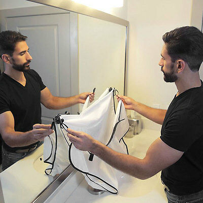 WOMAN Man Bathroom Beard Care Trimmer Hair Catcher Shave Apron Gown Sink Tool