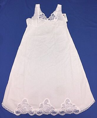 VELROSE Ladies Full Slip With Lace Size 36 Cotton White (4536)