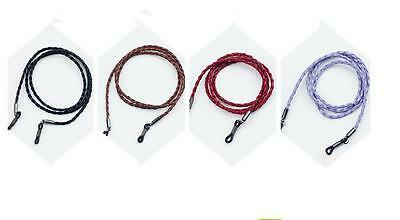 Colorful Faux Leather Glasses Eyeglass Cord Holder Necklace Chain Strap 70cm OZ