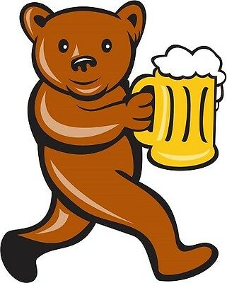 30 Custom Beer Bear Personalized Address Labels