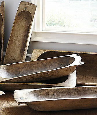 Antique French Vintage Wooden Dough Proving Bowls