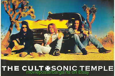 THE CULT SONIC TEMPLE HUGE Album Promo 1989 Rolled 3 x 5 feet U.K. SUBWAY POSTER