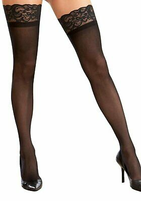 Dreamgirl 7030X Plus Size Sheer Thigh High With Lace Top