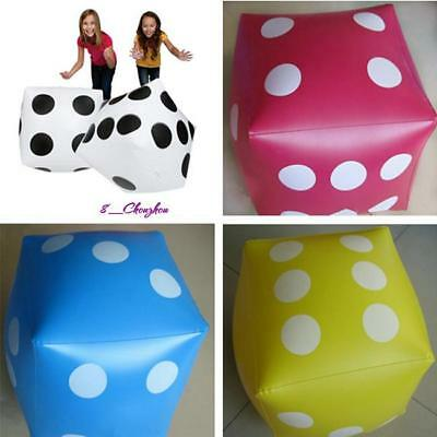 Beach Toy Soft Cube Dot Square Giant Inflatable Dice Party Garden Game 30*30cm C