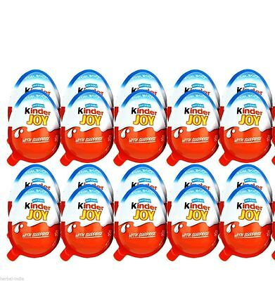 24 X Kinder JOY Surprise Eggs, Ferrero Kinder Choclate Best Gift Toys, for BOY