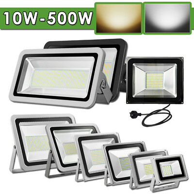 10W-500W LED Flood Light Cool Warm White Work Wall Spot Floodlights IP65 240V