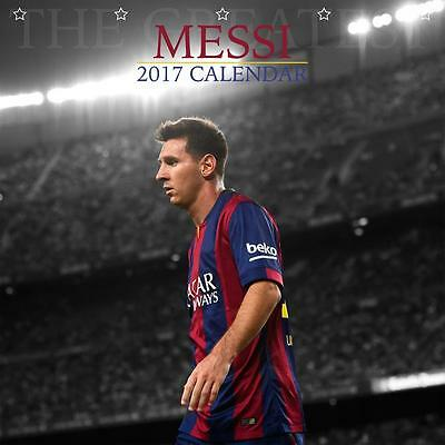 Lionel Messi Unofficial 2017 Square 12 Month Celebrity Calendar (P)