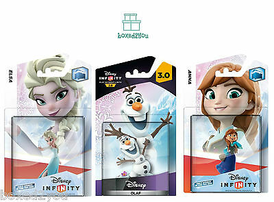 Disney Infinity1.0 ELSA & ANNA & 3.0 OLAF - 3 Characters all Brand New