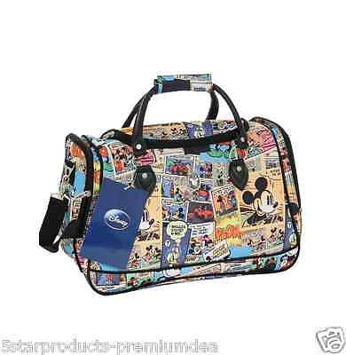 New Disney Comic Overnight Tote Bag Travel Luggage Weekend 4Wd Polyester Large