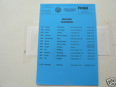 D798 Brochure Husaberg Pricelist 2005 Models French/dutch 2 Pages