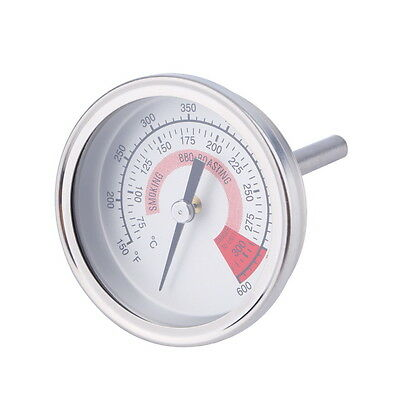 Stainless Steel Barbecue BBQ Pit Smoker Grill Thermometer Gauge 300 ZG