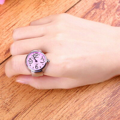 Creative Fashion Steel Round Elastic Quartz Finger Ring Watch Lady Girl Gift ZG