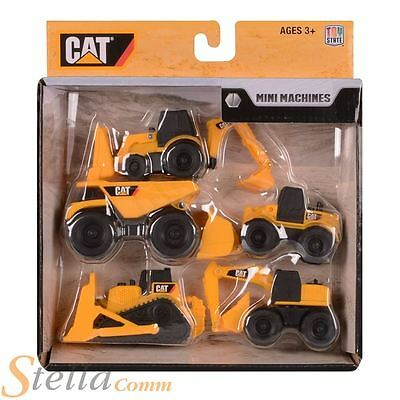 CAT Catepillar Mini Machines Toy Construction Vehicles 5 Pack Truck Digger Cars