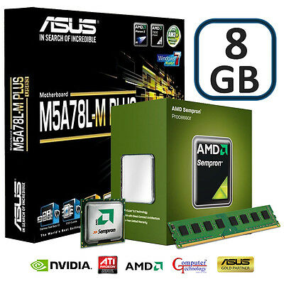 Amd 140 8Gb Asus M5A78L-M Plus Usb3 Motherboard Pc Building Bundle With Hdmi