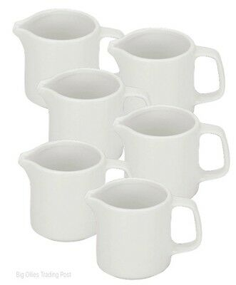 New Set Of 6 Traditional Pure White Cream/Milk 120ml 4.2oz Porcelain Jugs