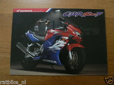 H047 Honda  Brochure Prospekt Folder Cbr600F Dutch 8 Pages 1998 ?