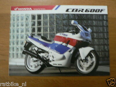 H063 Honda  Brochure Prospekt Folder Cbr600F  Dutch 6 Pages