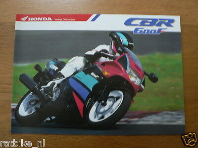 H064 Honda  Brochure Prospekt Folder Cbr600F  Dutch 8 Pages