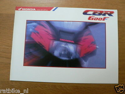 H065 Honda  Brochure Prospekt Folder Cbr600F  Dutch 6 Pages