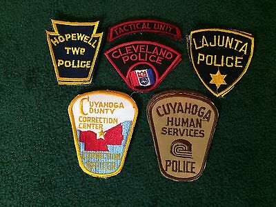 Mixed Lot of 6 brand new vintage rare police patches patch
