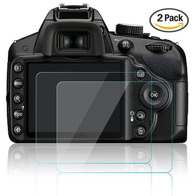 2x Optical Tempered Glass LCD cover screen protector Film for Nikon D3200 D3400