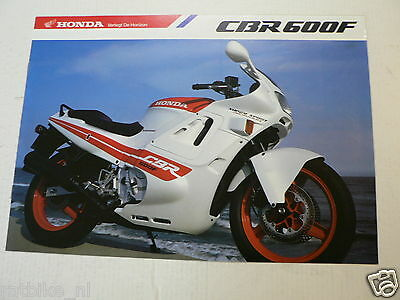 H311 Honda Brochure Cbr600F Ed-Type Dutch 8 Pages Moto