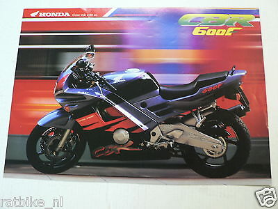 H312 Honda Brochure Cbr600F Ed-Type Dutch 6 Pages Moto 1993 ?