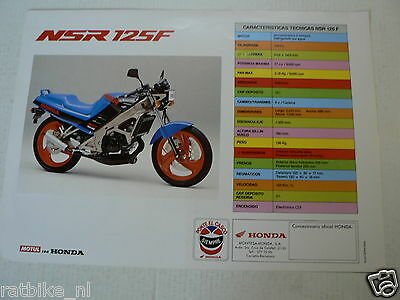 H318 Honda Brochure Nsr 125 R Spanish 2 Pages
