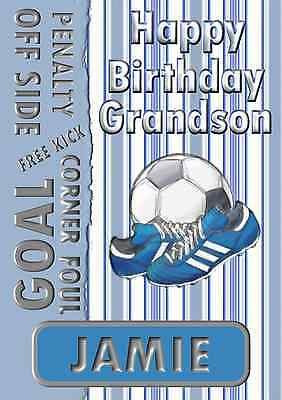 PERSONALISED RANGERS FOOTBALL BIRTHDAY CARD SON DAD UNCLE ANY NAME AGE