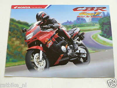 H408 Honda  Brochure Prospekt Cbr600F Direct Air Induction Dutch 6 Pages  1994 ?