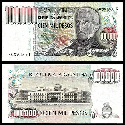 Argentina 100000 PESOS SERIE B ND 1983 P 308b UNC OFFER !