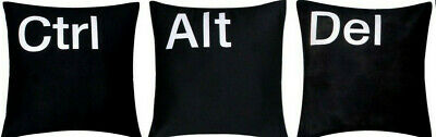 'Ctrl Alt Del Esc' Premium Quality 100% Twill Cotton Black Cushion Covers Pillow