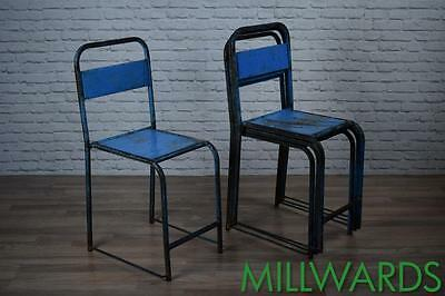 Vintage Brown Metal Industrial Stacking Cafe Bar Garden Chairs 30 AVAILABLE