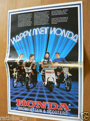080 Honda Mopeds And Scooters Brochure All Models 1984 ? Dutch 16 Pages A4,mt50.