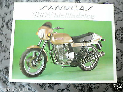 Brochure Sanglas 400 Y Bicilindrico 1979 Dutch Language 2 Pages Ph 728 Is Folded