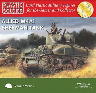 PLASTIC SOLDIER COMPANY 72nd Scale Allied M4A1 Sherman Tank